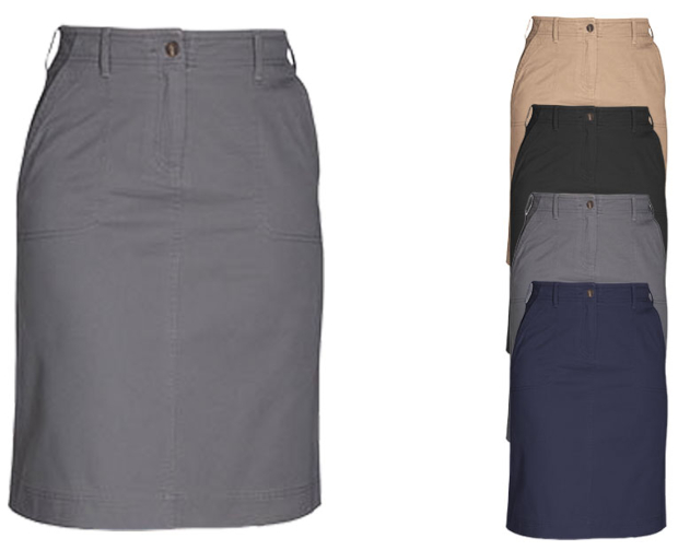 BR500 Brook Taverner Business Casual Collection Austin Chino Skirt