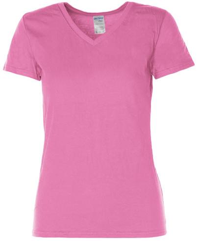 G4100VL Gildan Premium Cotton® Ladies` V-Neck T-Shirt