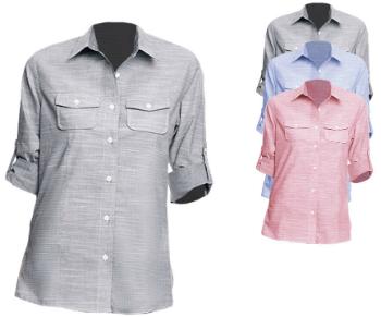 BU5247 Burnside Ladies Woven Texture Shirt
