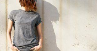 Frau-in-Jersey-Shirt