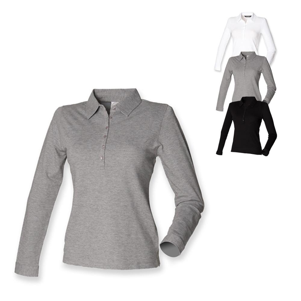 5b9a9faa72e81a Langarm Polo Shirts für Damen und Herren kaufen