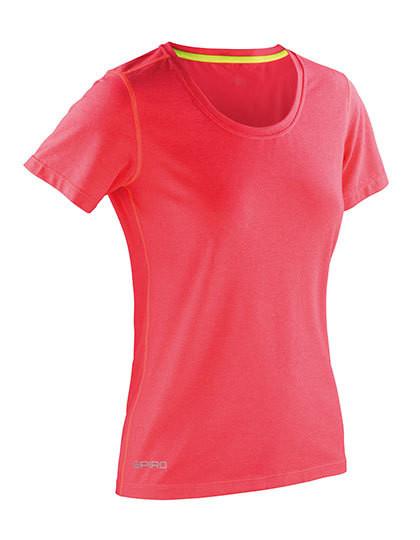 super popular 78aaa 5ee64 RT271F SPIRO Fitness Womens Shiny Marl T-Shirt