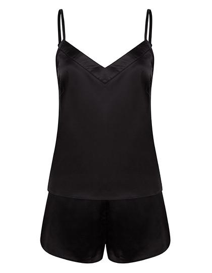 TC057 Towel City Ladies Satin Cami Short Pyjamas