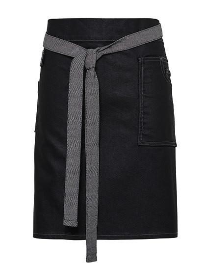 PW135 Premier Workwear Division Waxed Look Denim Waist Apron