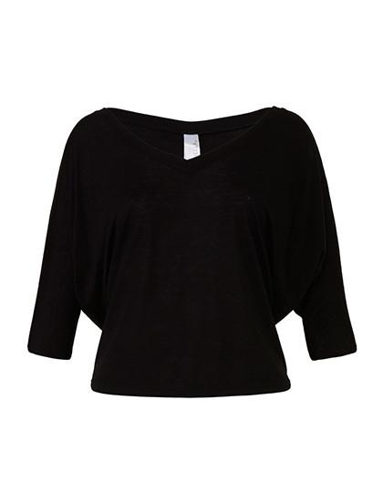 BL8825 Bella Boxy Half Sleeve V-Neck T-Shirt