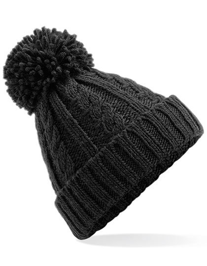 CB480 Beechfield Cable Knit Melange Beanie