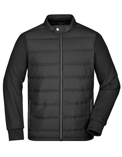 JN1124 James+Nicholson Men's Hybrid Sweat Jacket