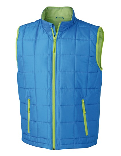 JN1037 James+Nicholson Men´s Padded Light Weight Vest