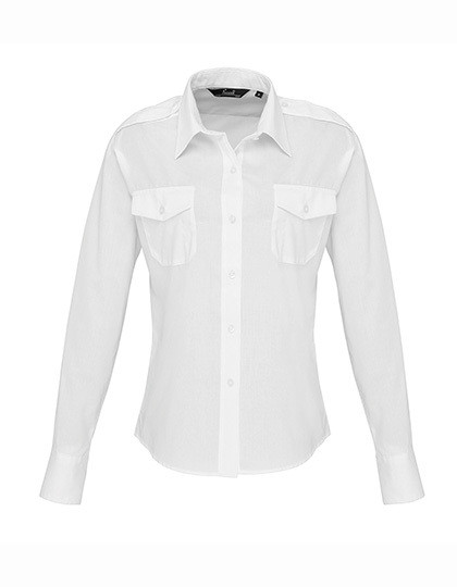 PW310 Premier Workwear Ladies Long Sleeve Pilot Shirt