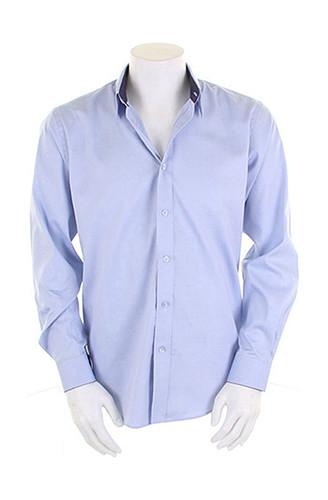 9d6850301083 K189 Kustom Kit Mens Contrast Premium Oxford Shirt Long Sleeve ...