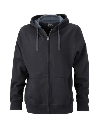 JN595 James+Nicholson Men´s Hooded Jacket