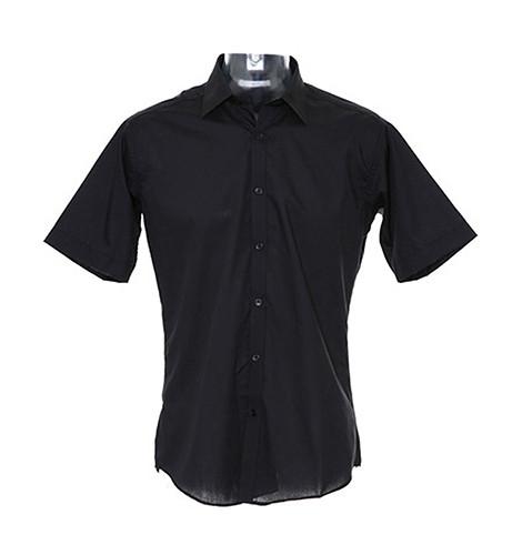K191 Kustom Kit Slim Fit Business Shirt Short Sleeved