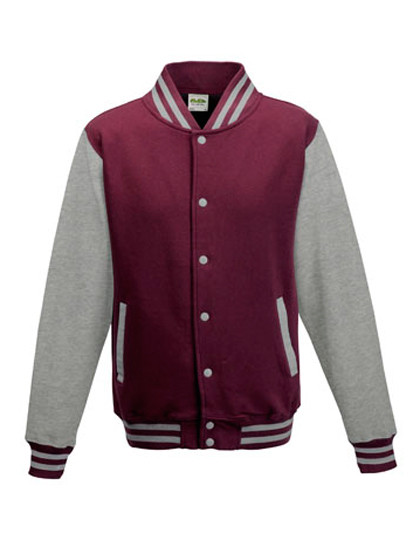 JH043 Just Hoods Varsity Jacket