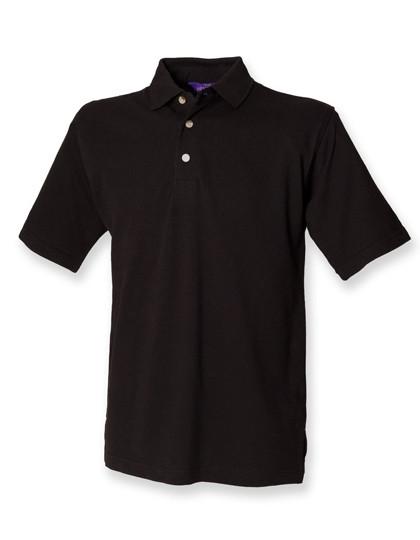 W100 Henbury Classic Cotton Piqué Polo Shirt