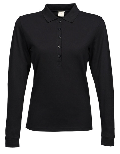 TJ146 Tee Jays Ladies Stretch Long Sleeve Polo