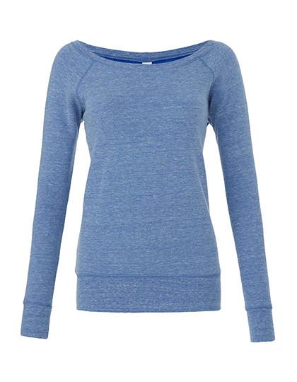 BL7501 Bella Women's Sponge Fleece Wide Neck Sweatshirt
