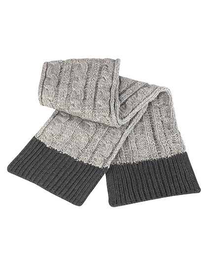 RC373 Result Winter Essentials Shades of Grey Knitted Scarf