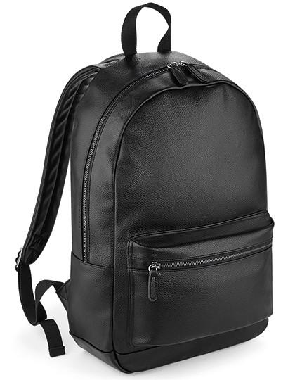 BG255 BagBase Faux Leather Fashion Backpack
