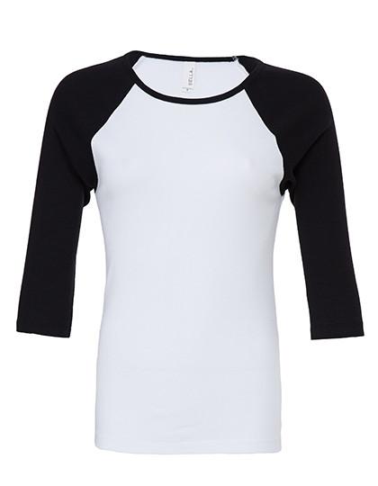 BL2000 Bella 3/4-Sleeve Contrast Raglan T-Shirt