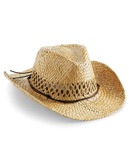 CB735 Beechfield Straw Cowboy Hat