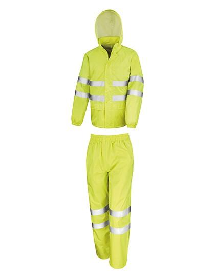 RT216 Result High Viz Waterproof Suit