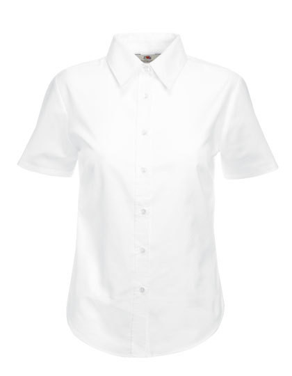 Fruit of the Loom Lady-Fit Short Sleeve Oxford Bluse