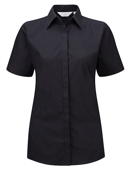 Z961F Russell Collection Ultimate Stretch Bluse Kurzarm