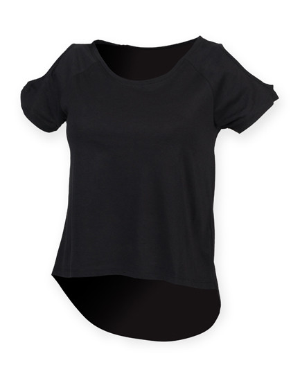 SF233 SF Women Ladies Drop Tail T
