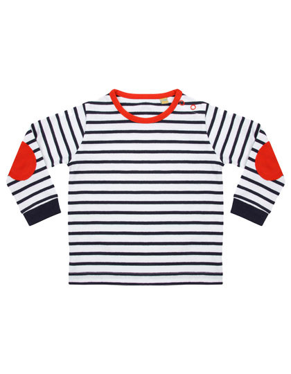 LW028 Larkwood Striped Long Sleeved T-Shirt