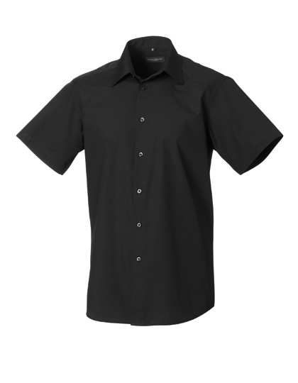 Z925 Russell Collection Kurzärmeliges Popeline Hemd