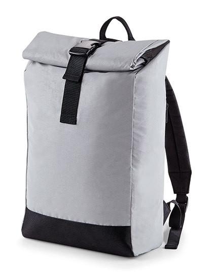 BG138 BagBase Reflective Roll-Top Backpack