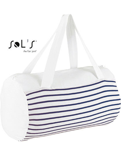 LB02122 SOL´S Bags Striped Jersey Duffel Bag Sunset