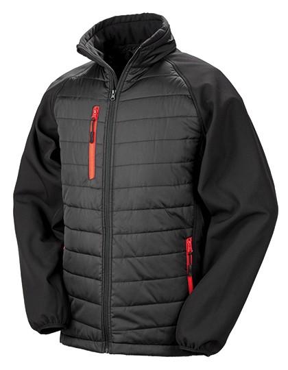 RT237 Result Black Compass Softshell Jacket