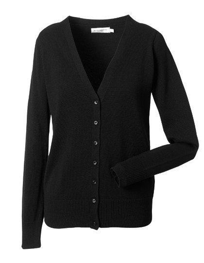 Z715F Russell Collection Damen Strick Cardigan mit V-Ausschnitt