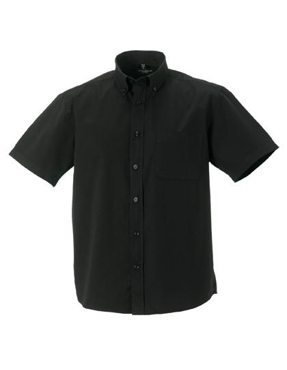 Z917 Russell Collection Kurzärmeliges Twill-Hemd