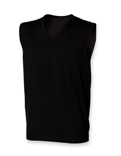 W724 Henbury Men`s Lightweight Sleeveless V-Neck Jumper