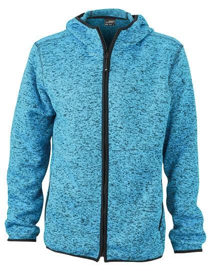 JN589 James+Nicholson Men´s Knitted Fleece Hoody