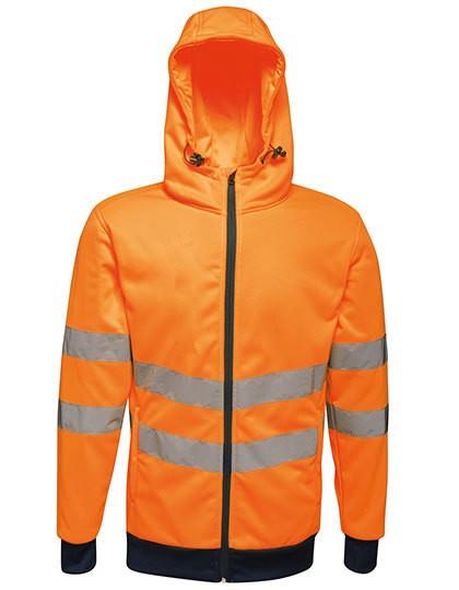 RG4710 Regatta Hi-Vis Pro FZ Extol Stretch Hoodie Jacket