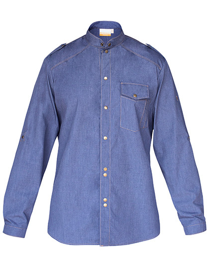 KY111 Karlowsky Kochhemd Jeans 1892 California