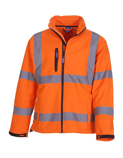 YK09 YOKO High Visibility 2 Bands & Braces Softshell Jacket