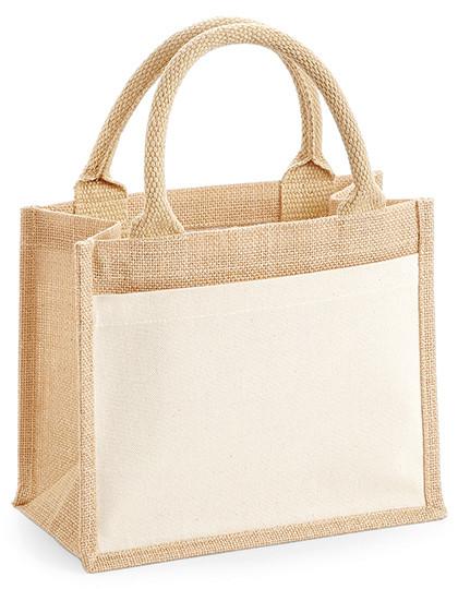 WM425 Westford Mill Cotton Pocket Jute Gift Bag