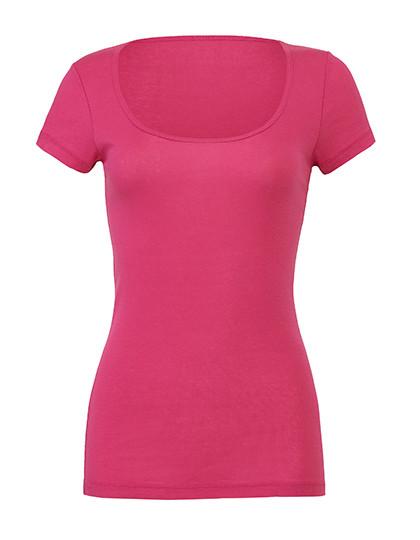 BL8703 Bella Sheer Rib Scoop Neck T-Shirt