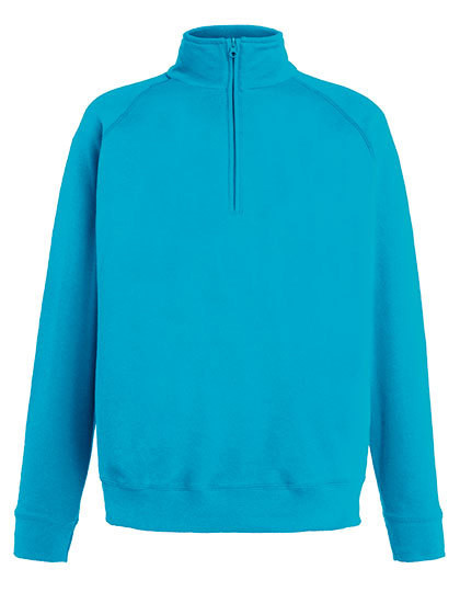 F385 Fruit of the Loom New Lightweight Zip Neck Sweat