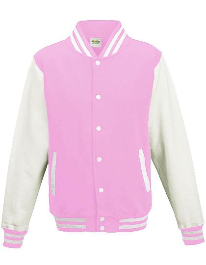 JH043F Just Hoods Girlie Varsity Jacket