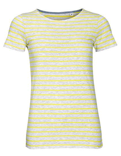 L01399 SOL´S Women`s Round Neck Striped T-Shirt Miles