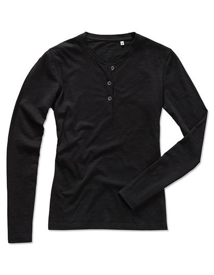 S9580 Stedman® Sharon Henley Long Sleeve for women