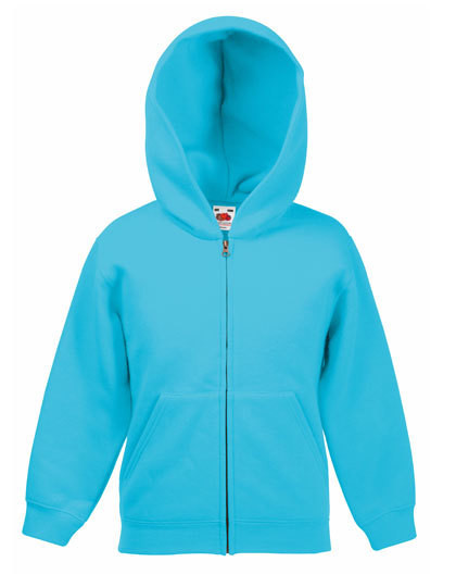 F401NK Fruit of the Loom Kids Classic Hooded Sweat Jacket