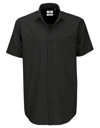 BCSMP42 B&C Poplin Shirt Heritage Short Sleeve / Men