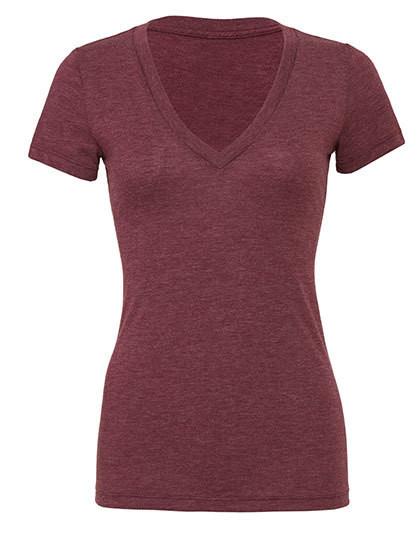 BL8435 Bella Women´s Triblend Deep V-Neck T-Shirt