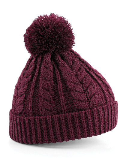 CB454 Beechfield Cable Knit Snowstar Beanie